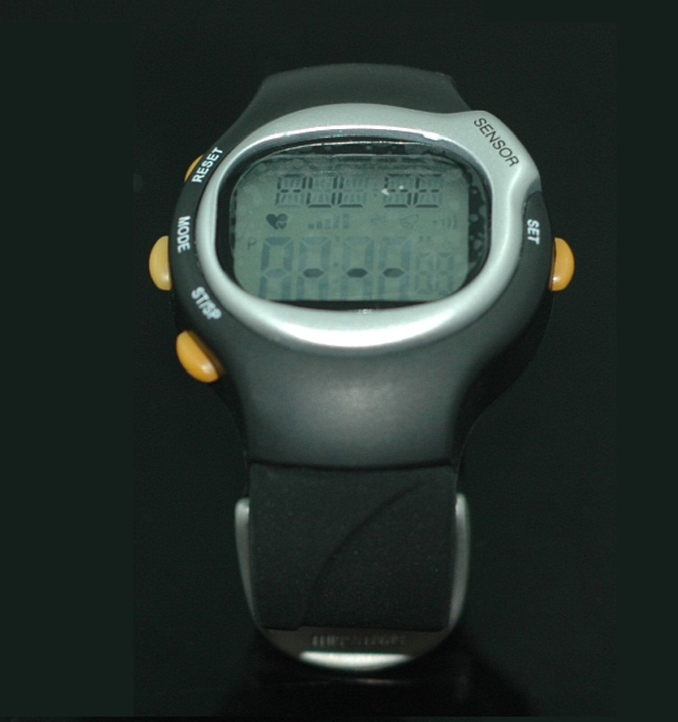 Black Heart Rate Pluse Watch Counter Monitor